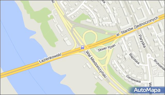 Przystanek Wał Miedzeszyński 01. ZTM Warszawa - Warszawa (id 209601) na mapie Targeo