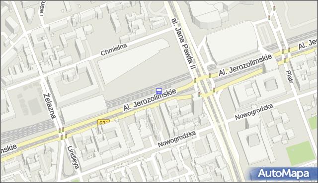 Przystanek Warszawa Śródmieście WKD 01. ZTM Warszawa - Warszawa (id 791101) na mapie Targeo