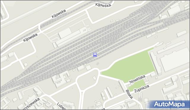 Przystanek Warszawa Wschodnia 01. ZTM Warszawa - Warszawa (id 290001) na mapie Targeo