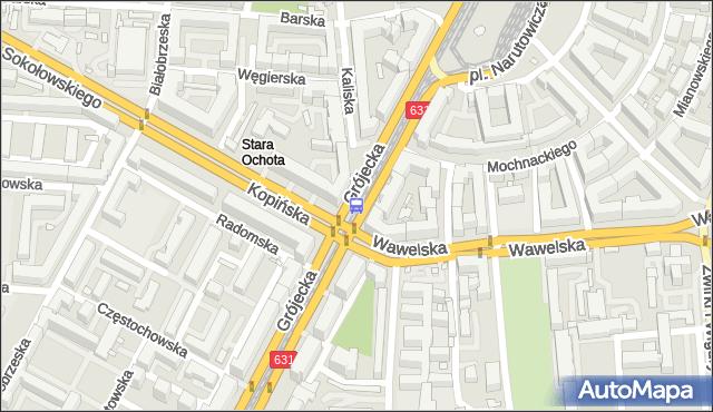 Przystanek Wawelska 04. ZTM Warszawa - Warszawa (id 412104) na mapie Targeo