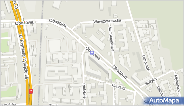 Przystanek Wawrzyszewska 01. ZTM Warszawa - Warszawa (id 506801) na mapie Targeo
