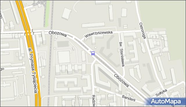 Przystanek Wawrzyszewska 04. ZTM Warszawa - Warszawa (id 506804) na mapie Targeo