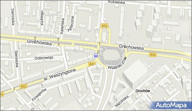 Przystanek Wiatraczna 03. ZTM Warszawa - Warszawa (id 200803) na mapie Targeo