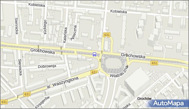 Przystanek Wiatraczna 04. ZTM Warszawa - Warszawa (id 200804) na mapie Targeo