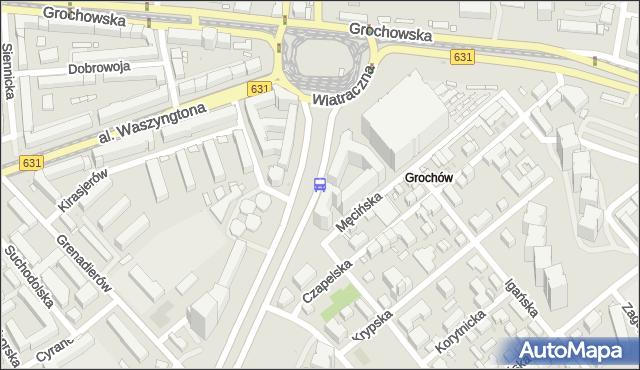 Przystanek Wiatraczna 10. ZTM Warszawa - Warszawa (id 200810) na mapie Targeo
