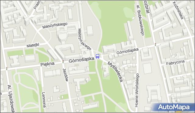 Przystanek Wiejska 02. ZTM Warszawa - Warszawa (id 703902) na mapie Targeo