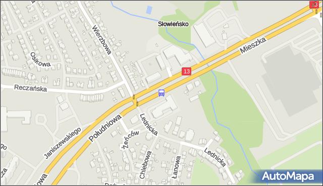 Przystanek Wierzbowa 21. ZDiTM Szczecin - Szczecin (id 23621) na mapie Targeo