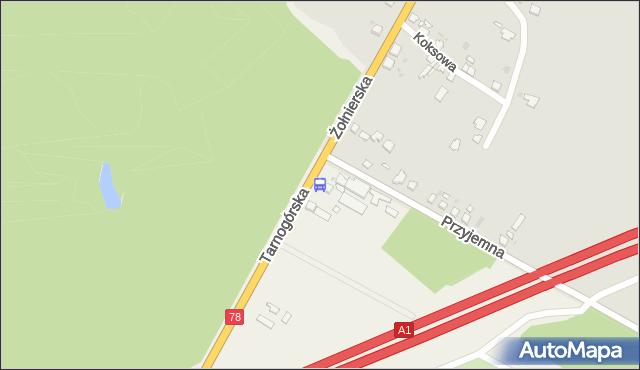 Przystanek Wieszowa Leśniczówka n/ż. KZKGOP - Katowice + GOP (25 miast) (id 1221) na mapie Targeo