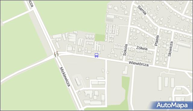 Przystanek WIEWIÓRCZA/SOKOLA. BKM - Białystok (id 542) na mapie Targeo