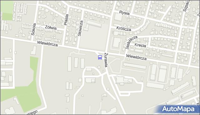 Przystanek Wiewiórcza/Szpital Zakaźny. BKM - Białystok (id 532) na mapie Targeo