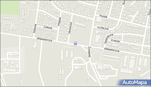 Przystanek Wiewiórcza/Szpital Zakaźny. BKM - Białystok (id 541) na mapie Targeo