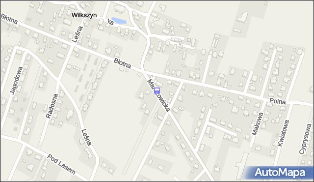 Przystanek Wilkszyn - Polna. MPKWroclaw - Wrocław (id 911923) na mapie Targeo