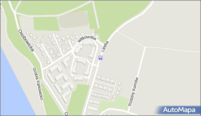 Przystanek Witkowska. MPKWroclaw - Wrocław (id 23313) na mapie Targeo