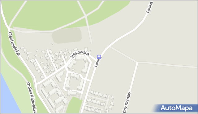 Przystanek Witkowska. MPKWroclaw - Wrocław (id 23312) na mapie Targeo
