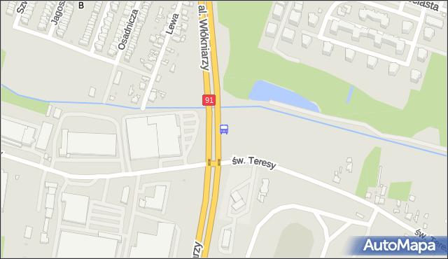 Przystanek Włókniarzy - św. Teresy. MPKLodz - Łódź (id 1308) na mapie Targeo