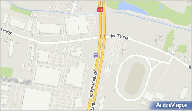 Przystanek Włókniarzy - św. Teresy. MPKLodz - Łódź (id 1313) na mapie Targeo