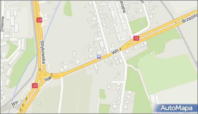 Przystanek Wojska Polskiego - Łomnicka. MPKLodz - Łódź (id 1339) na mapie Targeo
