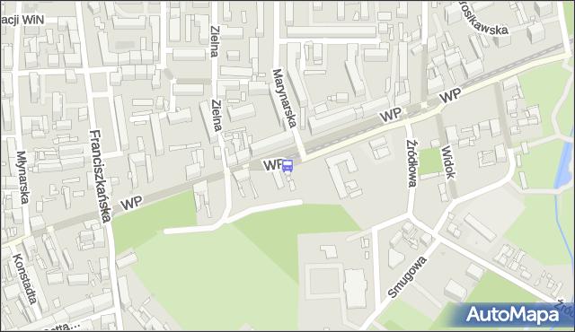 Przystanek Wojska Polskiego - Marynarska. MPKLodz - Łódź (id 1331) na mapie Targeo