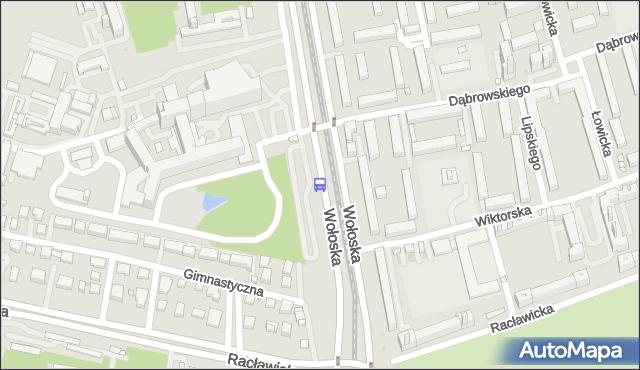Przystanek Wołoska-Szpital 01. ZTM Warszawa - Warszawa (id 323801) na mapie Targeo