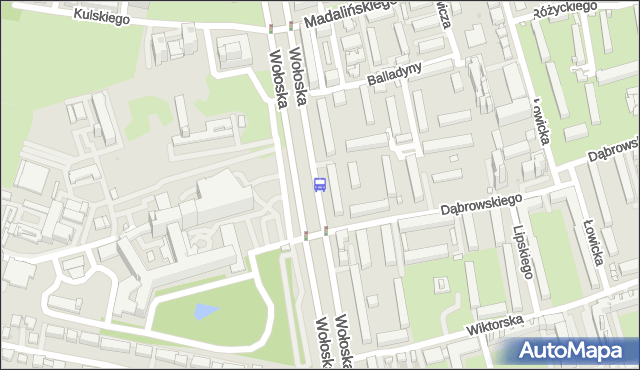 Przystanek Wołoska-Szpital 02. ZTM Warszawa - Warszawa (id 323802) na mapie Targeo