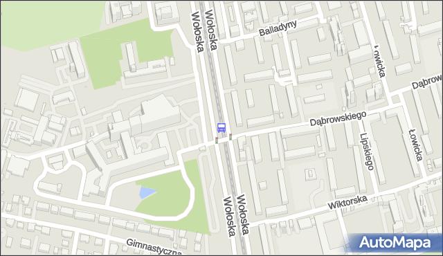 Przystanek Wołoska-Szpital 03. ZTM Warszawa - Warszawa (id 323803) na mapie Targeo