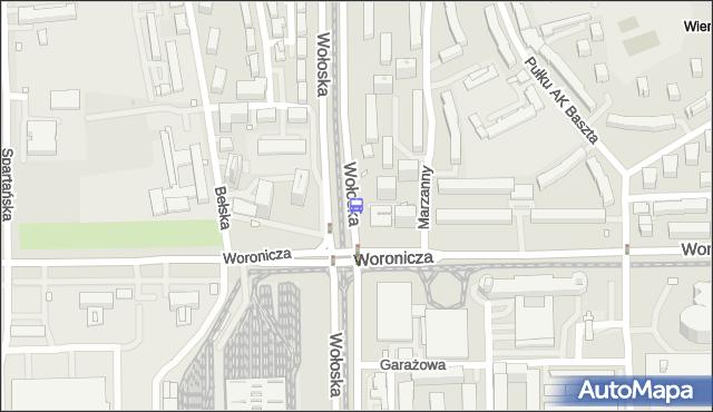 Przystanek Woronicza 02. ZTM Warszawa - Warszawa (id 324002) na mapie Targeo