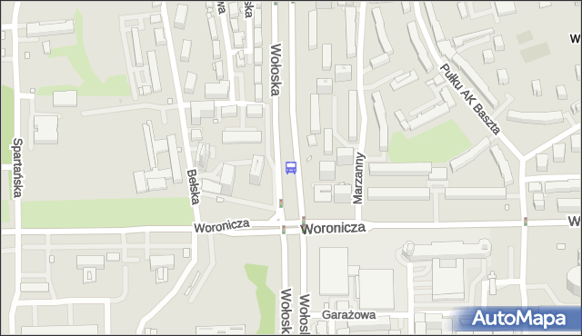 Przystanek Woronicza 04. ZTM Warszawa - Warszawa (id 324004) na mapie Targeo