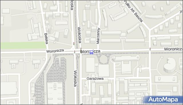 Przystanek Woronicza 05. ZTM Warszawa - Warszawa (id 324005) na mapie Targeo