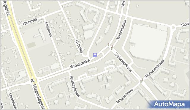 Przystanek WROCŁAWSKA/A. RYBNIKA. BKM - Białystok (id 561) na mapie Targeo