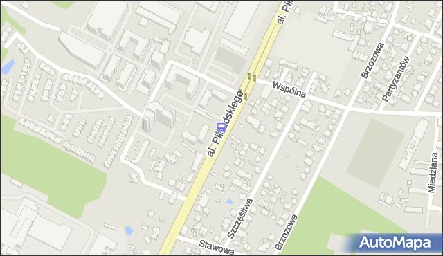 Przystanek Wspólna 01. ZTM Warszawa - Warszawa (id 123901) na mapie Targeo