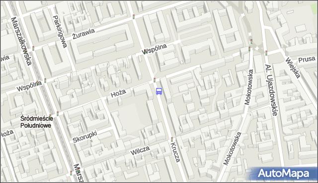 Przystanek Wspólna 02. ZTM Warszawa - Warszawa (id 703402) na mapie Targeo