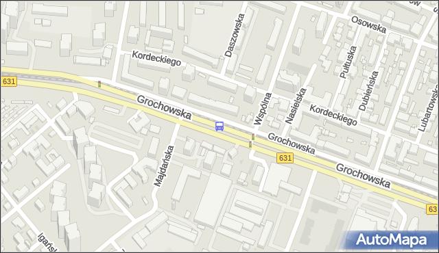 Przystanek Wspólna Droga 01. ZTM Warszawa - Warszawa (id 201001) na mapie Targeo