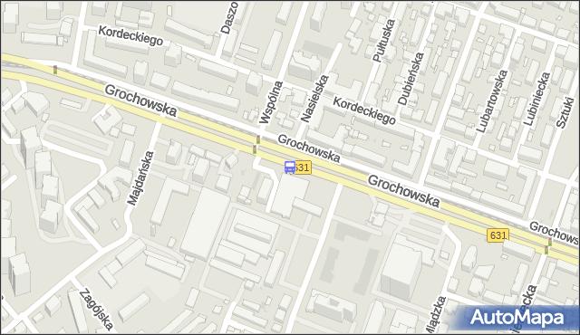 Przystanek Wspólna Droga 02. ZTM Warszawa - Warszawa (id 201002) na mapie Targeo