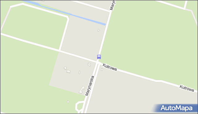 Przystanek Wyspa Pucka Ogrody (nowa nazwa: Kutrowa) 12. ZDiTM Szczecin - Szczecin (id 62212) na mapie Targeo