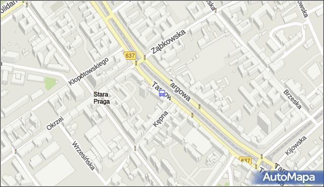Przystanek Ząbkowska 01. ZTM Warszawa - Warszawa (id 100201) na mapie Targeo