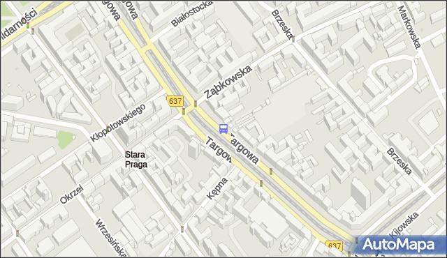 Przystanek Ząbkowska 02. ZTM Warszawa - Warszawa (id 100202) na mapie Targeo