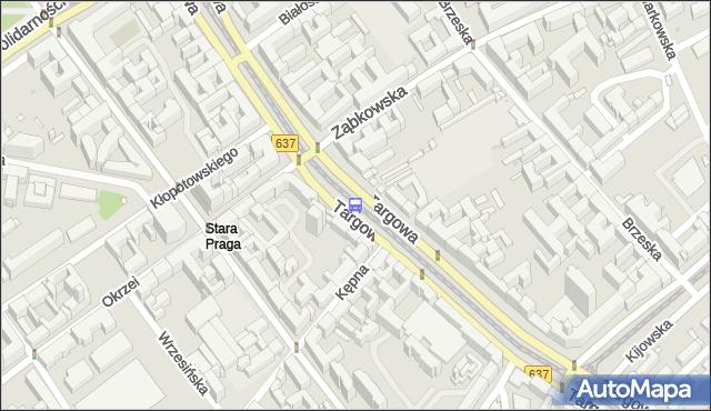 Przystanek Ząbkowska 03. ZTM Warszawa - Warszawa (id 100203) na mapie Targeo