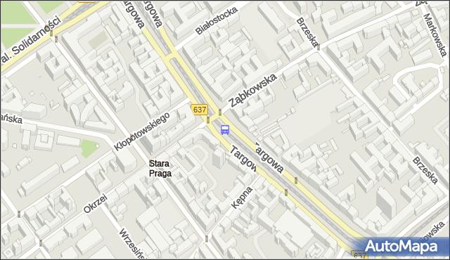 Przystanek Ząbkowska 04. ZTM Warszawa - Warszawa (id 100204) na mapie Targeo