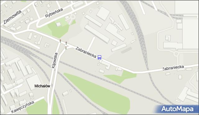 Przystanek Zabraniecka-Magazyny 01. ZTM Warszawa - Warszawa (id 103701) na mapie Targeo