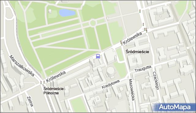 Przystanek Zachęta 01. ZTM Warszawa - Warszawa (id 702801) na mapie Targeo