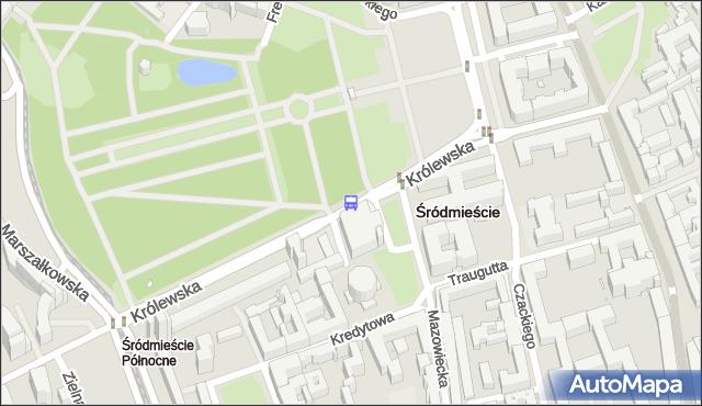 Przystanek Zachęta 02. ZTM Warszawa - Warszawa (id 702802) na mapie Targeo