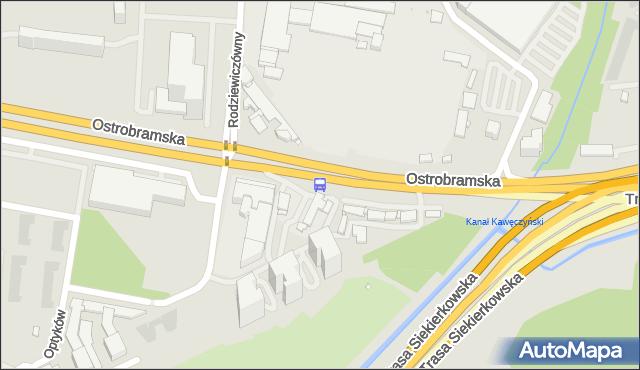 Przystanek Zajezdnia Ostrobramska 02. ZTM Warszawa - Warszawa (id 210402) na mapie Targeo