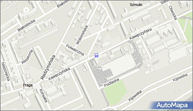 Przystanek Zajezdnia Praga 01. ZTM Warszawa - Warszawa (id 102901) na mapie Targeo