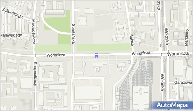 Przystanek Zajezdnia Woronicza 01. ZTM Warszawa - Warszawa (id 325801) na mapie Targeo
