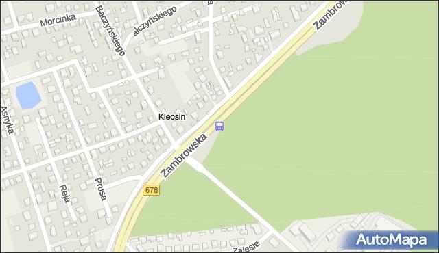 Przystanek Zambrowska/Kleosin Pętla. BKM - Białystok (id 743) na mapie Targeo