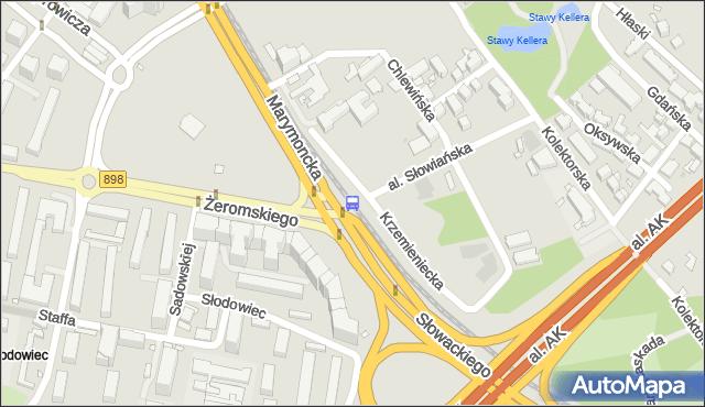 Przystanek Żeromskiego 06. ZTM Warszawa - Warszawa (id 600606) na mapie Targeo