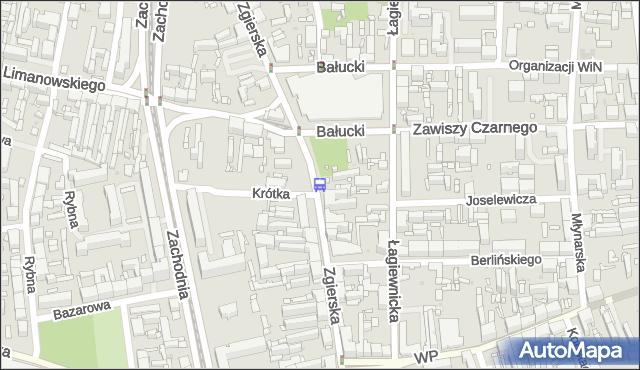 Przystanek Zgierska - Bałucki Rynek. MPKLodz - Łódź (id 1429) na mapie Targeo