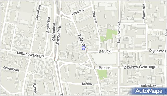 Przystanek Zgierska - Bałucki Rynek. MPKLodz - Łódź (id 1466) na mapie Targeo