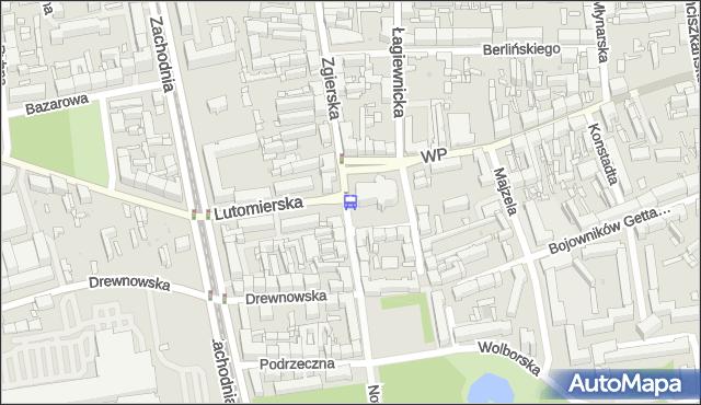 Przystanek Zgierska - pl. Kościelny. MPKLodz - Łódź (id 1428) na mapie Targeo