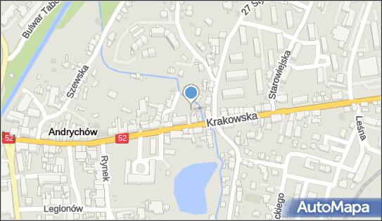 Parking Bezpłatny, Krakowska52 90, Andrychów 34-120 - Bezpłatny - Parking